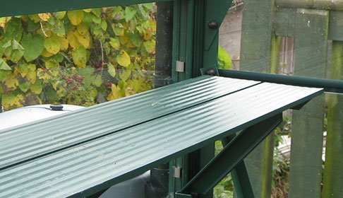 Greenhouse two slat diamond shelf