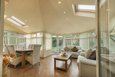 large luxury conservatory interior