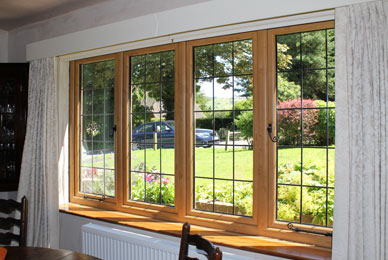 view looking outside through new uPVC windows installed by South Shropdshire glass